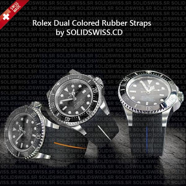 Rolex Rubber Strap 904L Stainless Steel Tang Buckle