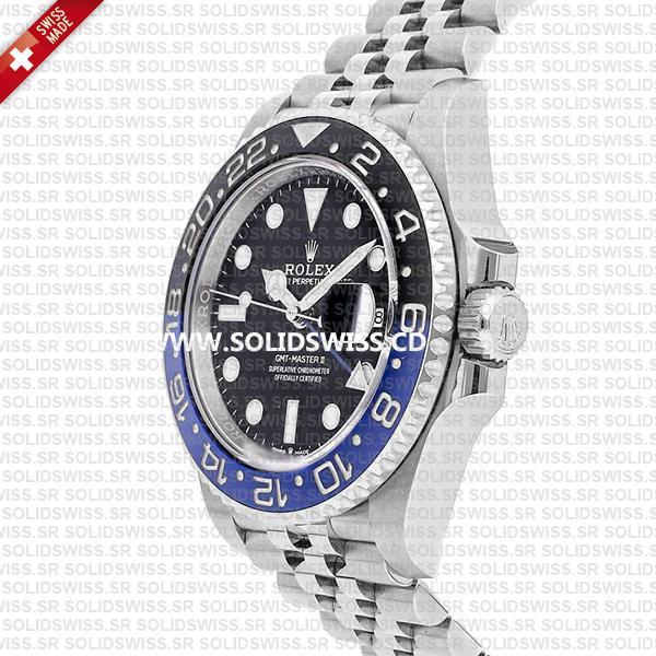 Rolex GMT-Master II Batman Blue Black Ceramic Bezel 904L Steel Jubilee Bracelet Swiss Made Replica Watch