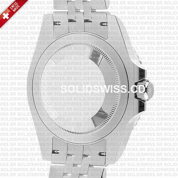 Rolex GMT-Master II Batman Steel Jubilee Bracelet Black Dial