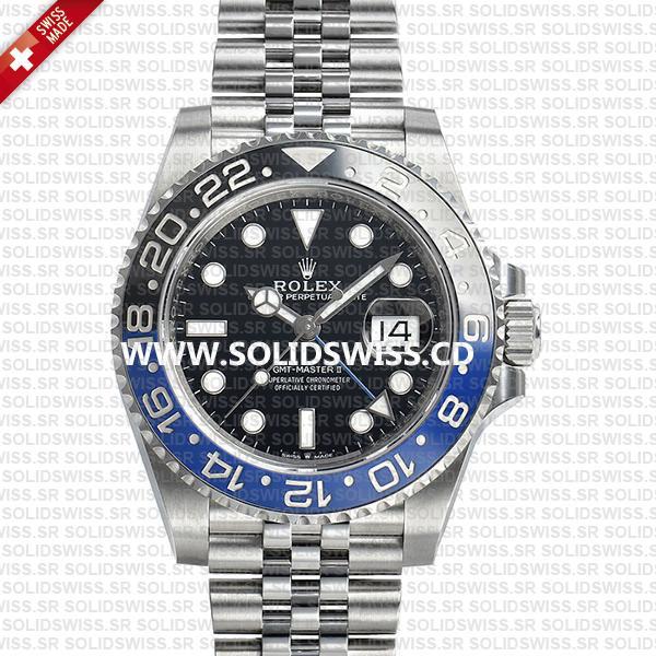 Rolex GMT-Master II Batman Blue Black Ceramic Bezel 40mm Watch