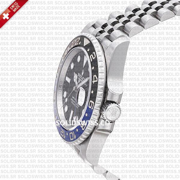 Rolex GMT-Master II Batman Blue Black Ceramic Bezel 904L Steel Jubilee Bracelet