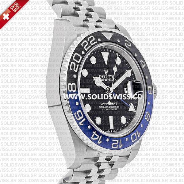 Rolex GMT-Master II Batman Blue Black Ceramic Bezel 904L Steel Jubilee Bracelet Swiss Replica Watch