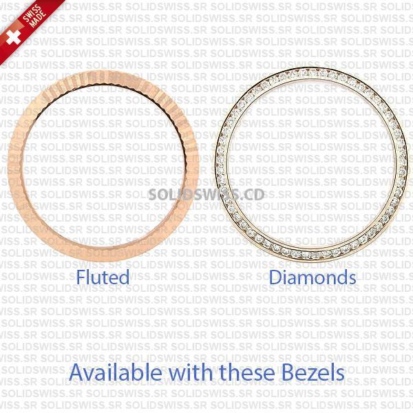 Real Moissanite Diamond Bezel Swiss Replica Rolex