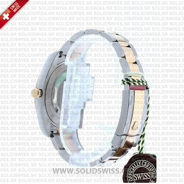 Rolex Datejust Two-Tone 18k Yellow Gold Green Roman Dial