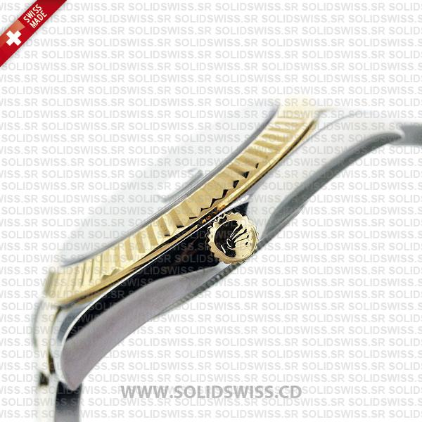 Rolex Datejust 2Tone Black Roman