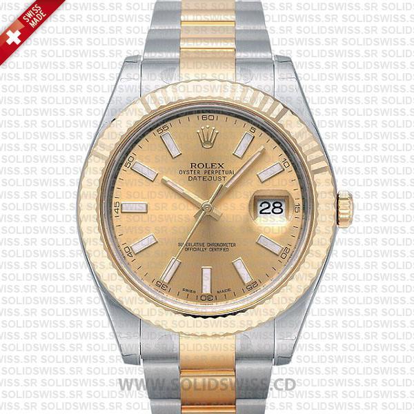 Rolex Datejust Two-Tone Gold Dial 41mm | Swiss Replica Watch