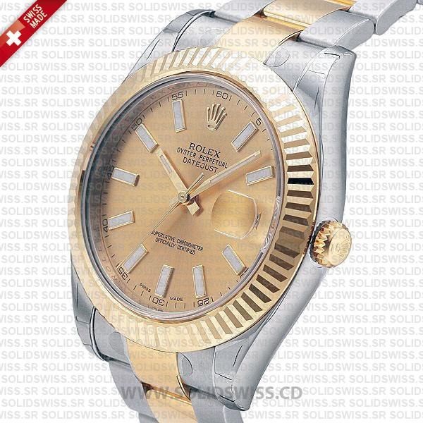 Rolex Datejust Two-Tone Gold Dial 41mm