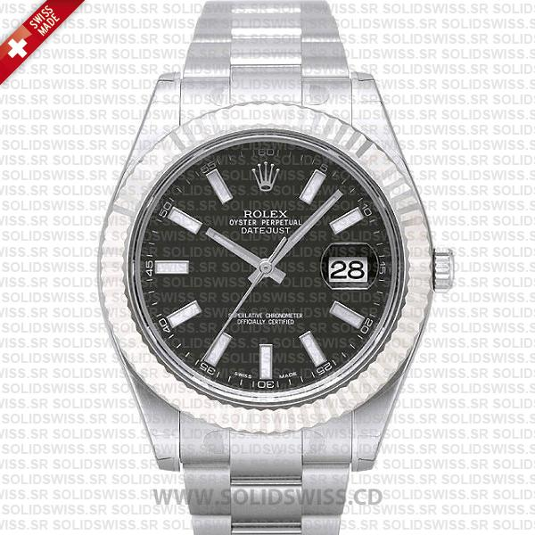Rolex Datejust SS Black