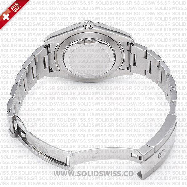 Rolex Datejust 18k White Gold Black Diamonds Dial Replica Watch