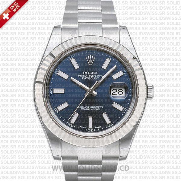 Rolex Datejust Blue Dial 41mm | Swiss Made Replica Watch