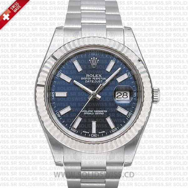 Rolex Datejust Blue Dial 41mm | Swiss Made Replica Watch