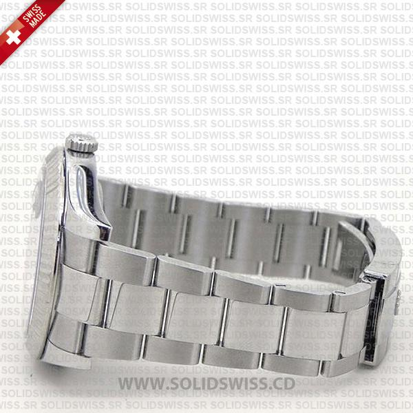 Rolex Datejust Black Roman Dial 41mm Replica Watch