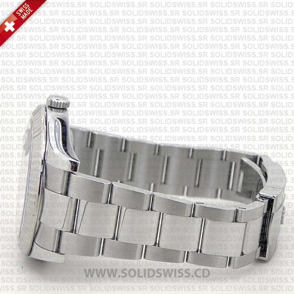 Rolex Datejust Black Diamonds Dial Stainless Steel 41mm