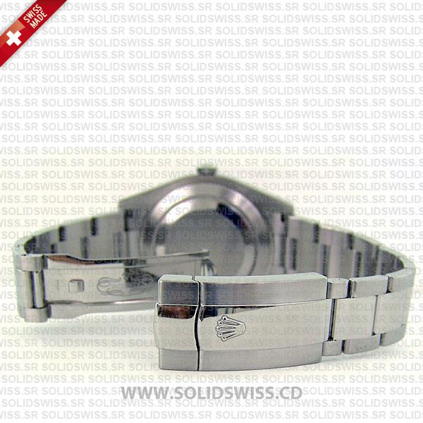 Rolex Datejust 41mm Silver Dial Fluted Bezel 18k White Gold Watch