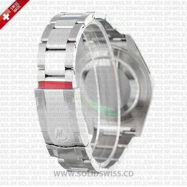Rolex Datejust 41mm Silver Dial Fluted Bezel 18k White Gold Replica Watch