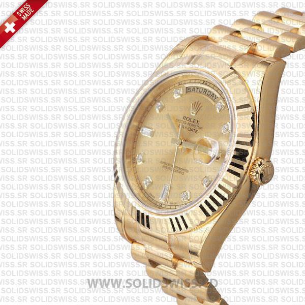 Rolex Day-Date II Yellow Gold Diamond Dial