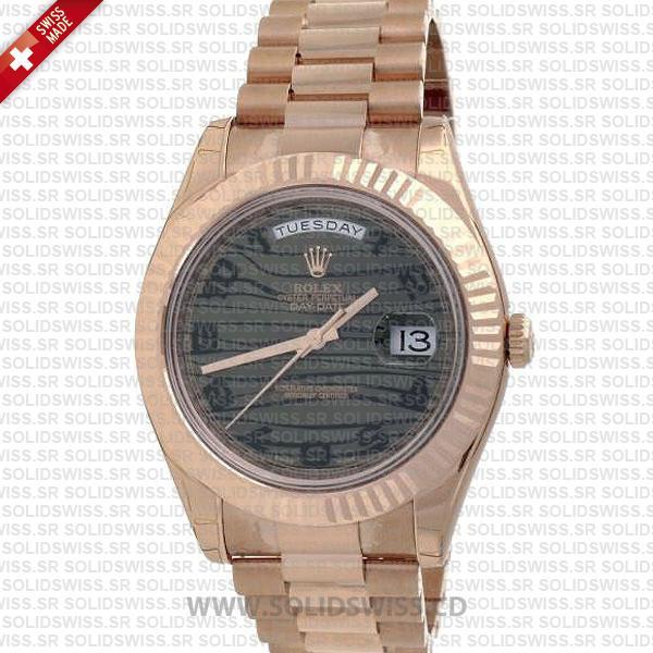 Rolex Day-Date II Rose Gold 904L Steel 41mm Replica Watch