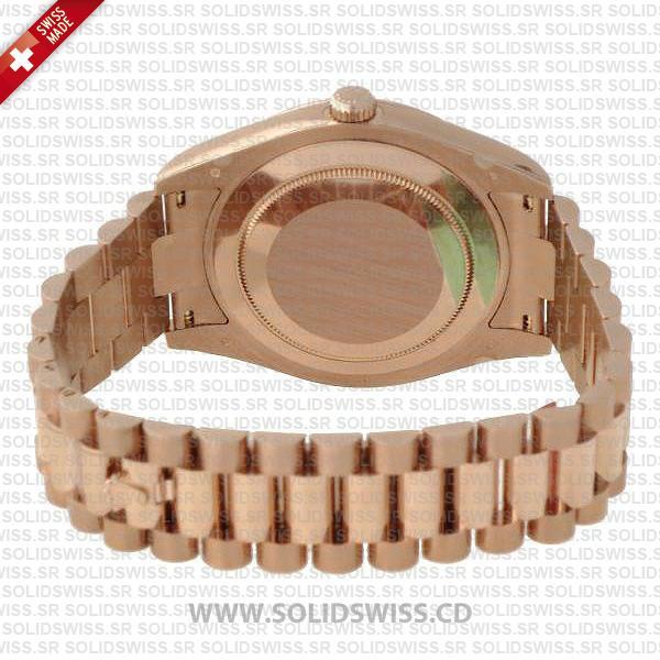 Rolex Day-Date II Rose Gold 904L Steel 41mm President Bracelet
