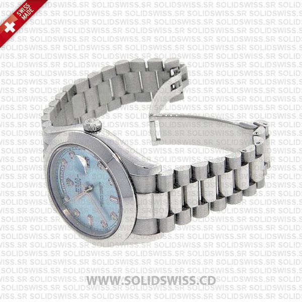 Rolex Day-Date SS Blue Diamonds
