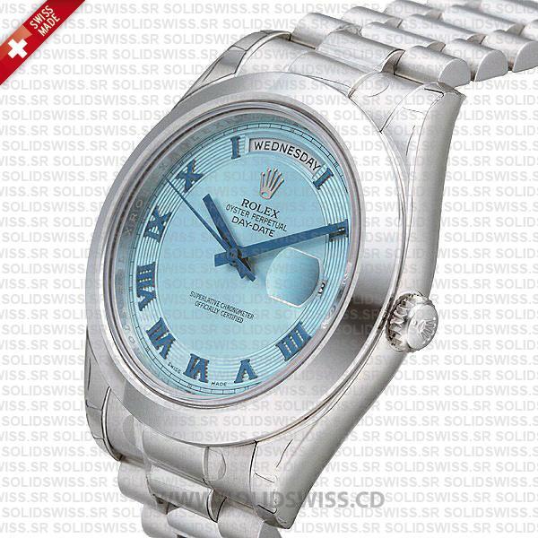 Rolex Day-Date SS Blue Roman