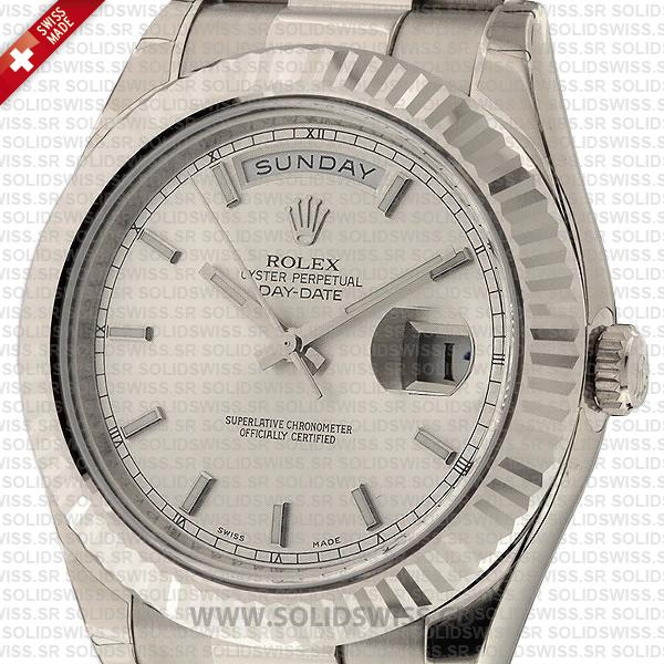 Rolex Day-Date SS Silver