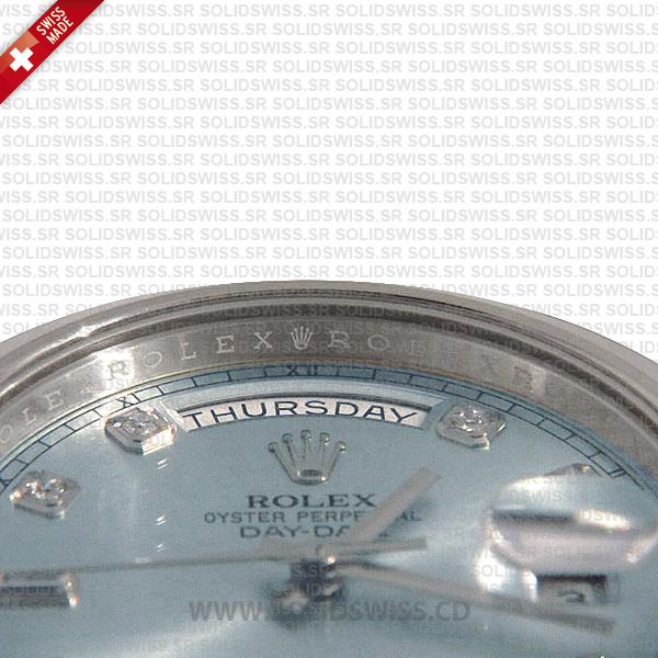 Rolex Day-Date SS Blue Diamonds
