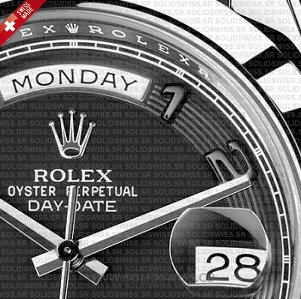 Rolex Day-Date SS Black Arabic 41mm Swiss Replica