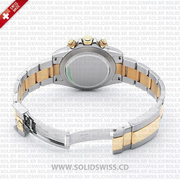 Rolex Daytona Two-Tone Black Dial 40mm Oyster Bracelet