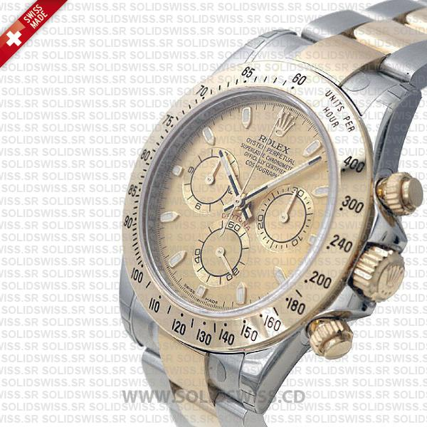 Rolex Daytona Two-Tone Gold Dial Replica Watch