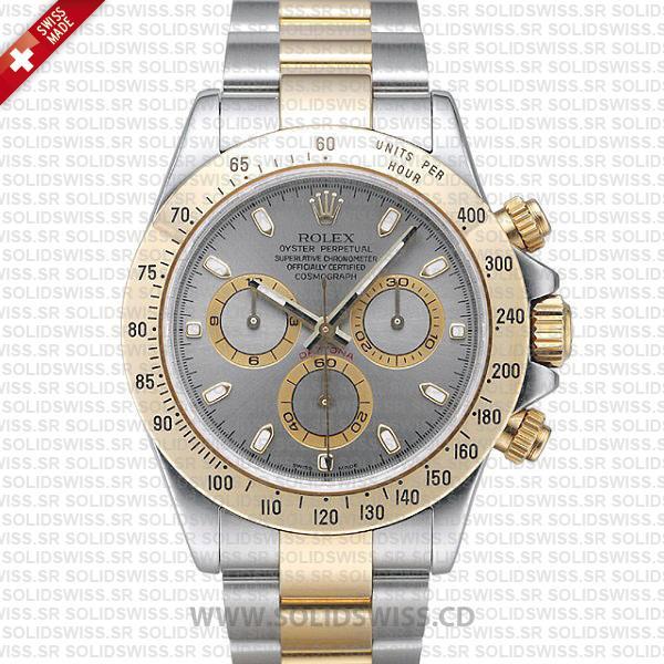 Rolex Daytona Two-Tone Stainless Steel Grey Dial 40mm Watch