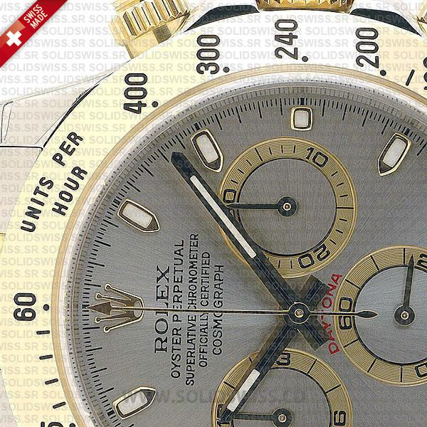 Rolex Daytona Two-Tone Stainless Steel Grey Dial 40mm