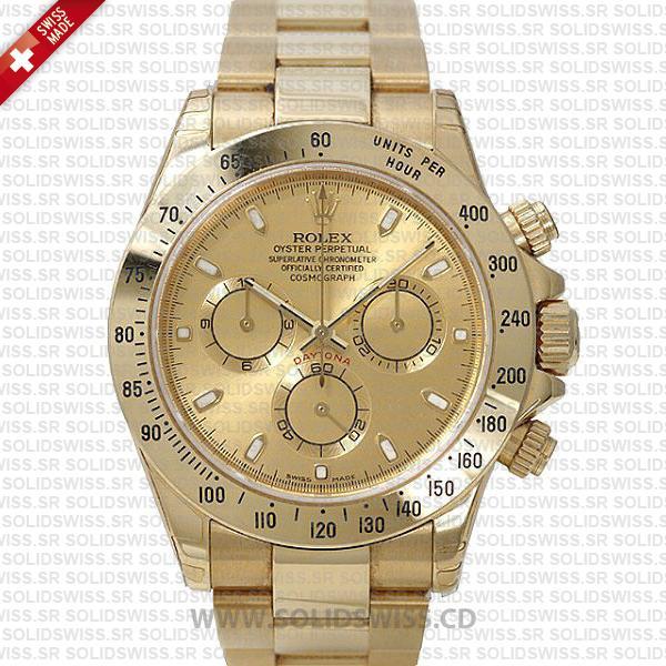 Rolex Daytona Stainless Steel Gold Dial | Solidswiss Watch