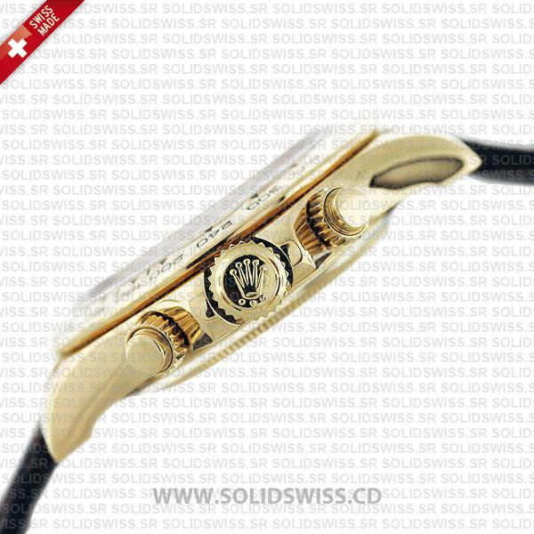 Rolex Daytona 18k Yellow Gold Blue Arabic Dial Replica Watch