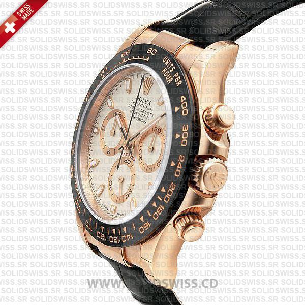 Rolex Daytona Rose Gold Black Ceramic Bezel