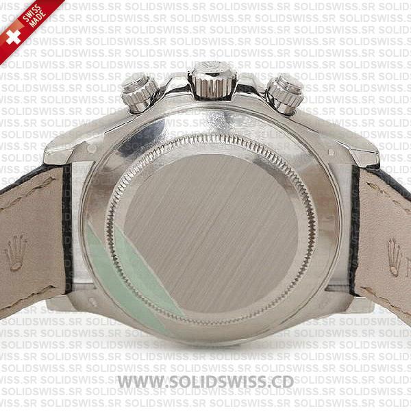 Rolex Daytona Leather SS White Gold Meteorite