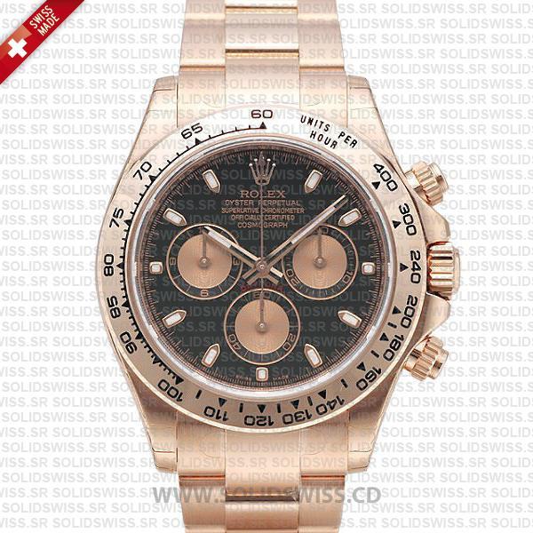Rolex Daytona Rose Gold Black