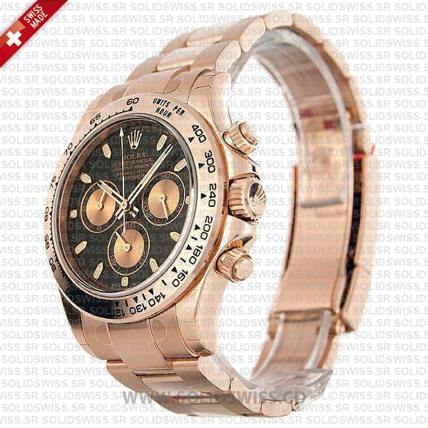 Rolex Daytona Rose Gold Black Dial 40mm