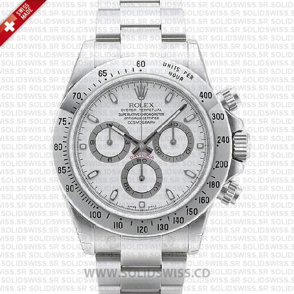 Rolex Daytona Stainless Steel White Dial   Rolex Replica Watch
