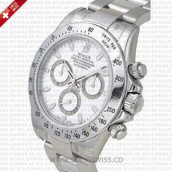 Rolex Daytona Stainless Steel White Dial