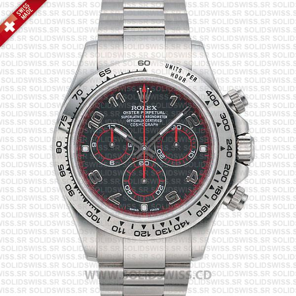 Rolex Daytona SS White Gold Black Arabic