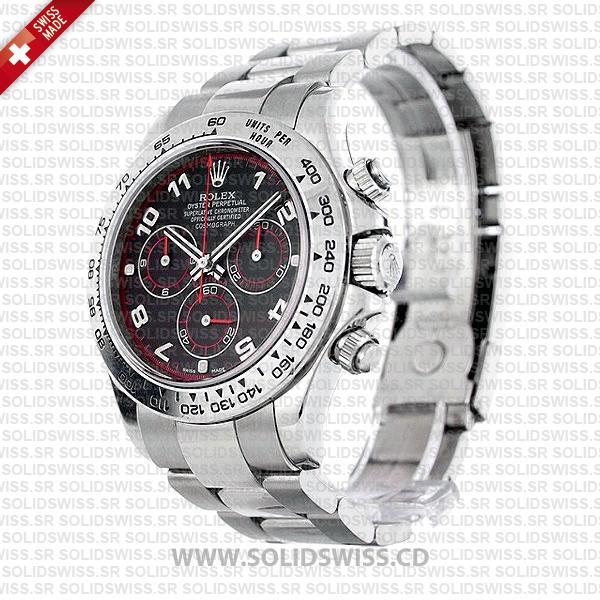 Rolex Daytona Black Arabic Dial Stainless Steel