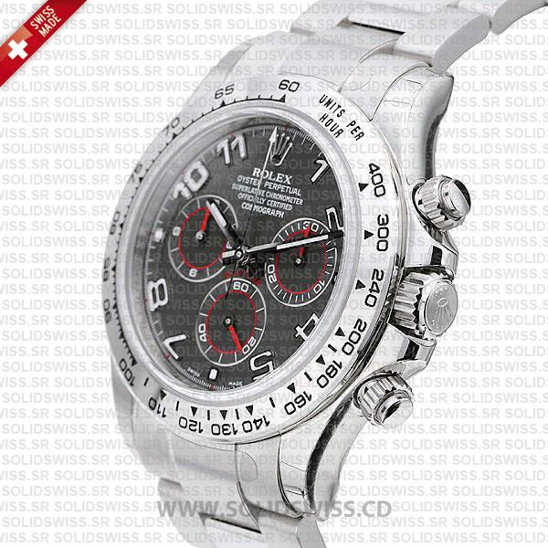 Rolex Daytona SS White Gold Grey Arabic