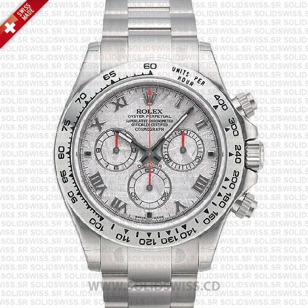 Rolex Daytona White Gold Meteorite Dial   Swiss Replica Watch