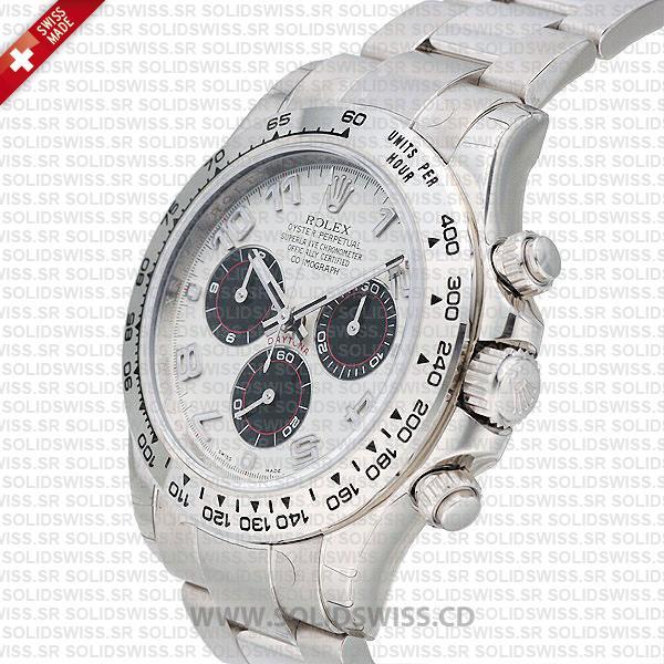 Rolex Daytona Stainless Steel White Gold White Dial