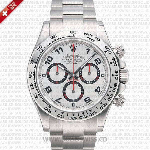 Rolex Daytona White Gold Arabic Dial 40mm | Solidswiss Watch