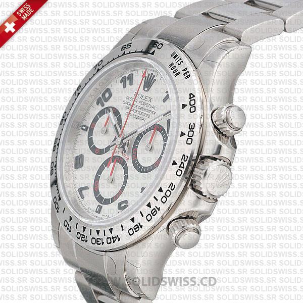 Rolex Daytona White Gold Arabic Dial 40mm Watch