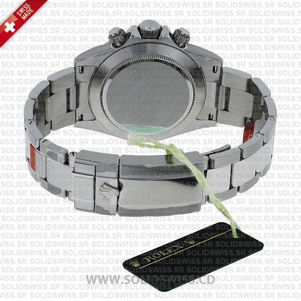 Rolex Daytona Stainless Steel White Gold White Dial 40mm