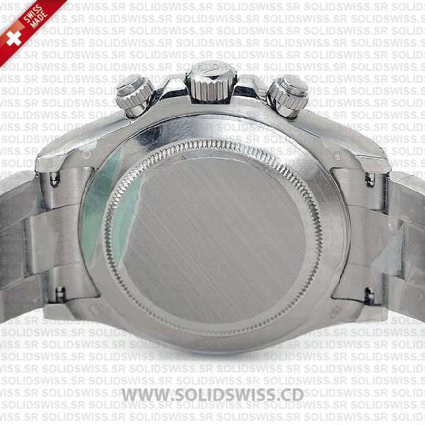 Rolex Daytona 18K White Gold Steel Dial 40mm Best Swiss Replica