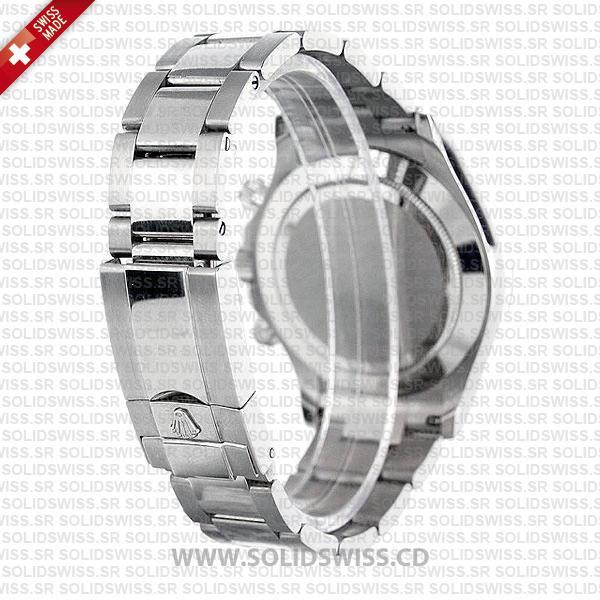 Rolex Cosmograph Daytona 18k White Gold White Arabic Dial Replica Watch