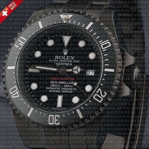 Rolex Sea-Dweller Deepsea DLC Pro Hunter Swiss Replica Watch